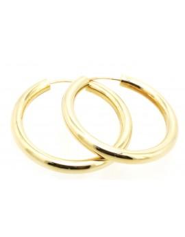 kolczyki złote kółka masa 6.950g. 585