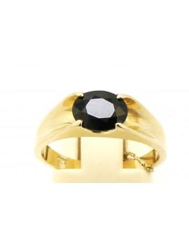 Pierścionek złoty z szafirem 1.80ct. masa 3.900g.
