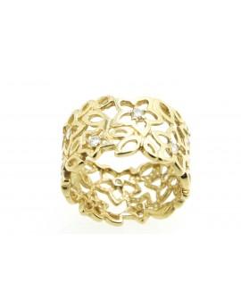 Pierścionek złoty z brylantami 0.33ct.I/Si-P masa 5.050g.585 z certyfikatem