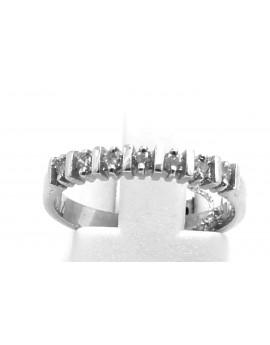 Pierścionek z białego złota z brylantami 0.15ct.I/SI-P  2.300g. 585 z certyfikatem.