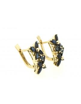 Kolczyki złote z szafirami 3.60ct. masa 5.500g.