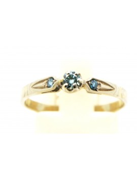 Pierścionek z białego złota z brylantami 0.14ct.barwa niebieska masa 1.750gr 585 z certyfikatem