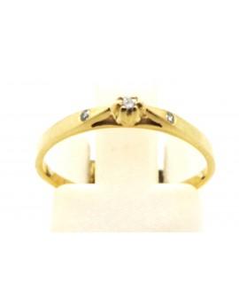 Pierścionek złoty z brylantami 0,06ct. I/SI-d/d masa 1.200gr 585 zcertyfikatem